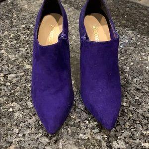 """Brand new, never worn purple 4"""" bootie heels"""